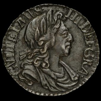 1701 William III Early Milled Silver Maundy Penny Obverse
