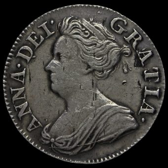 1713 Queen Anne Early Milled Silver Maundy Threepence Obverse