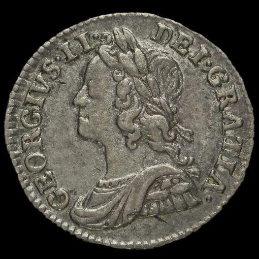 1746 George II Early Milled Silver Maundy Twopence Obverse