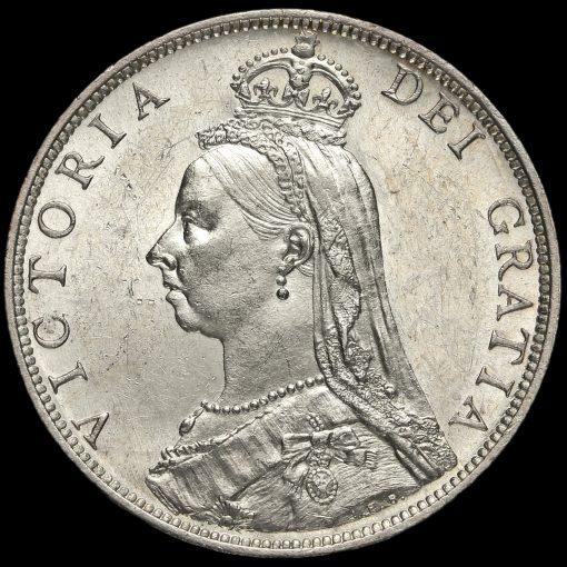 1889 Queen Victoria Jubilee Head Silver Florin Obverse
