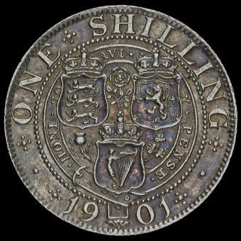 1901 Queen Victoria Veiled Head Silver Shilling Reverse