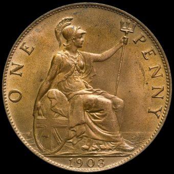 1903 Edward VII Penny Reverse