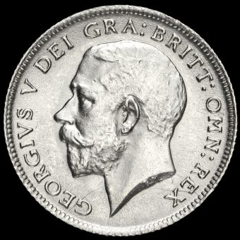 1911 George V Silver Sixpence Obverse