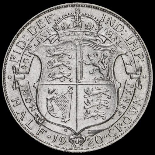 1920 George V Silver Half Crown Reverse