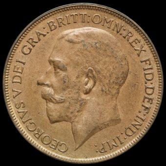 1926 George V Penny obverse