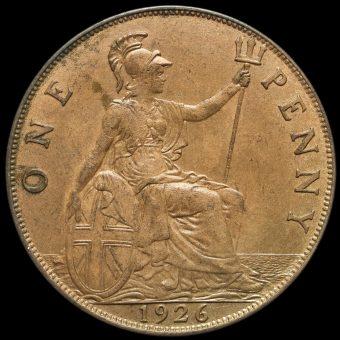1926 George V Penny Reverse