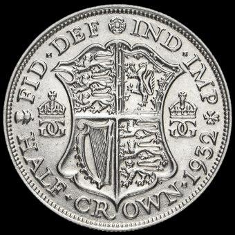 1932 George V Silver Half Crown Reverse