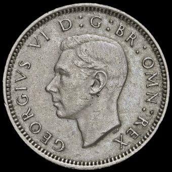 1952 George VI Sixpence Obverse
