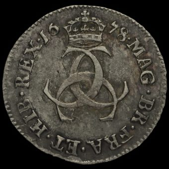1678 Charles II Early Milled Silver Maundy Threepence Reverse