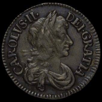 1679 Charles II Early Milled Silver Maundy Threepence Obverse