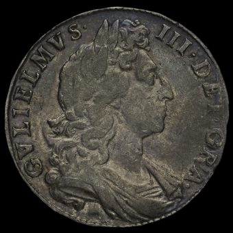 1698 William III Early Milled Silver Decimo Half Crown Obverse