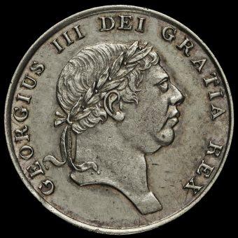 1816 George III Silver Eighteenpence Bank Token Obverse