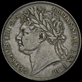 1821 George IV Milled Silver Half Crown Obverse