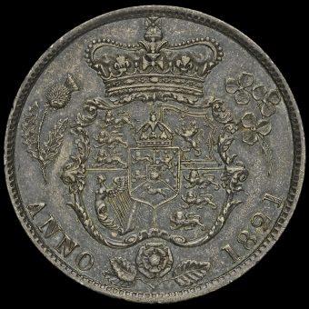 1821 George IV Milled Silver Half Crown Reverse