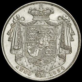 1834 William IV Milled Silver Half Crown Reverse