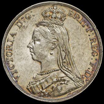 1889 Queen Victoria Jubilee Head Silver Crown Obverse