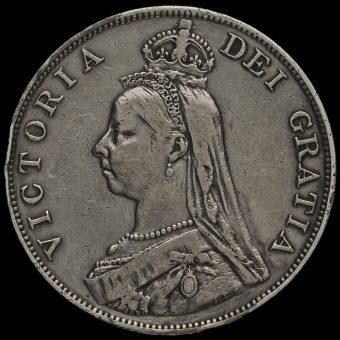 1890 Queen Victoria Jubilee Head Silver Double Florin Obverse