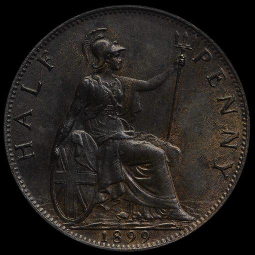 1899 Queen Victoria Veiled Head Halfpenny Reverse