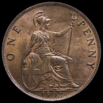 1902 Edward VII Low Tide Penny Reverse