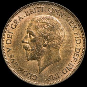1936 George V Penny Obverse