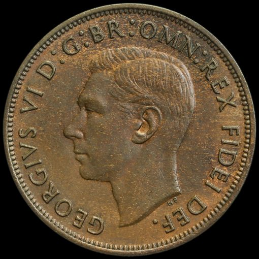 1950 George VI Penny Obverse