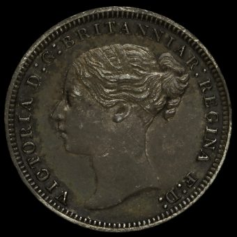 1875 Queen Victoria Young Head Silver Threepence Obverse