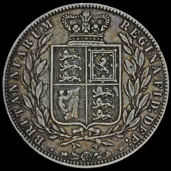 1878 Queen Victoria Young Head Silver Half Crown Reverse