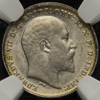 1910 Edward VII Silver Threepence Obverse