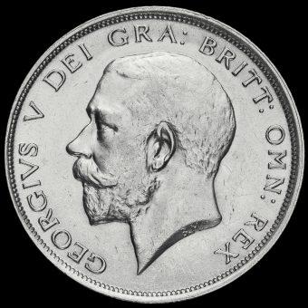 1915 George V Silver Half Crown Obverse