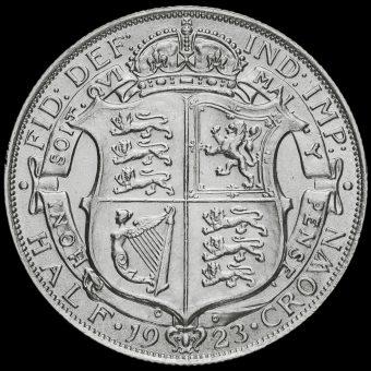 1923 George V Silver Half Crown Reverse