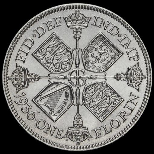 1936 George V Silver Florin Reverse