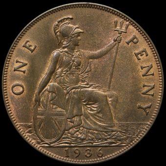 1936 George V Penny Reverse