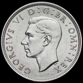 1938 George VI Silver Half Crown Obverse