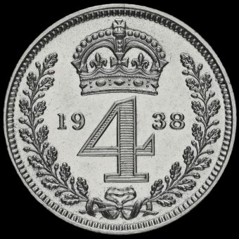 1938 George VI Silver Maundy Fourpence Reverse