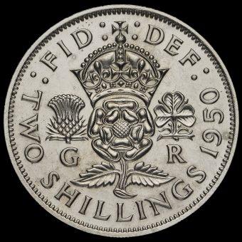 1950 George VI Proof Florin Reverse