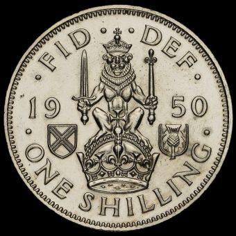 1950 George VI Proof Scottish Shilling Reverse