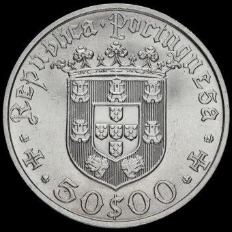 Portugal 1968 Silver 50 Escudos Obverse