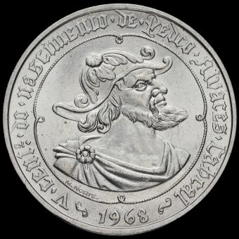 Portugal 1968 Silver 50 Escudos Reverse