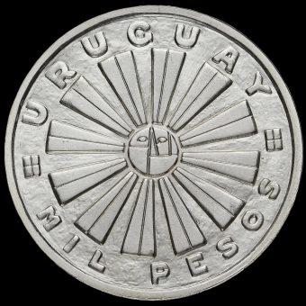 Uruguay 1969 Silver 1000 Pesos Coin Obverse