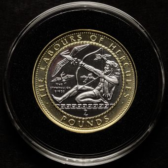 The Stymphalian Birds Two Pounds £2 Coin Reverse