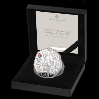 2021 Team GB Tokyo Silver Proof 50p Coin