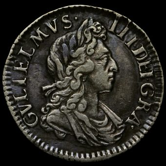 1701 William III Early Milled Silver Maundy Threepence Obverse
