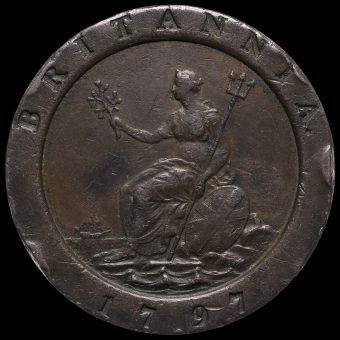 1797 George III Cartwheel Twopence Reverse