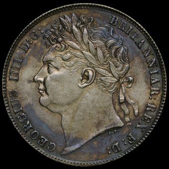 1820 George IV Milled Silver Half Crown Obverse