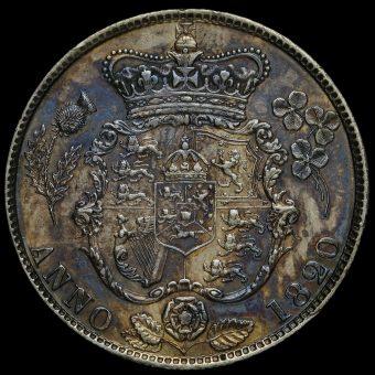 1820 George IV Milled Silver Half Crown Reverse