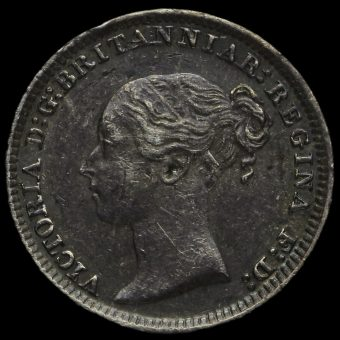 1884 Queen Victoria Silver Maundy Penny Obverse