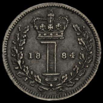1884 Queen Victoria Silver Maundy Penny Reverse