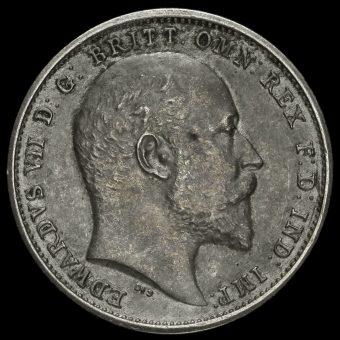 1902 Edward VII Silver Matt Proof Maundy Fourpence Obverse