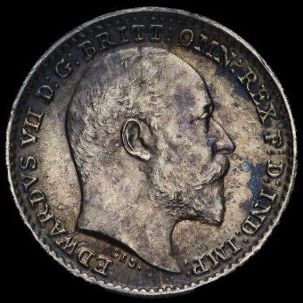 1903 Edward VII Silver Maundy Penny Obverse