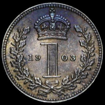 1903 Edward VII Silver Maundy Penny Reverse